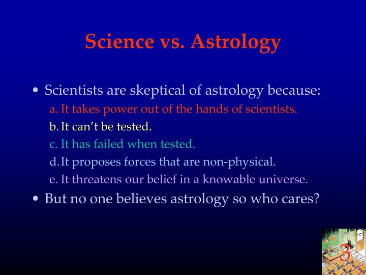 Science vs. Astrology