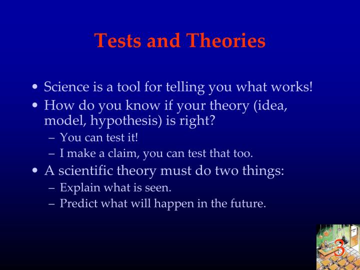 Tests and Theories