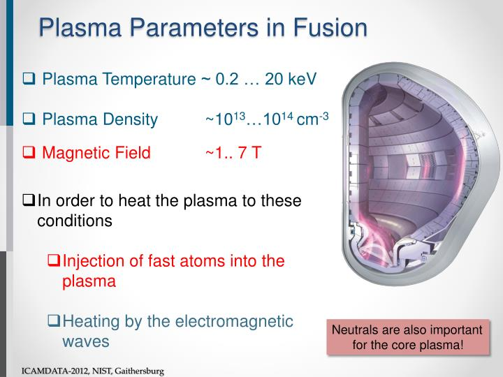 Plasma parameters in fusion