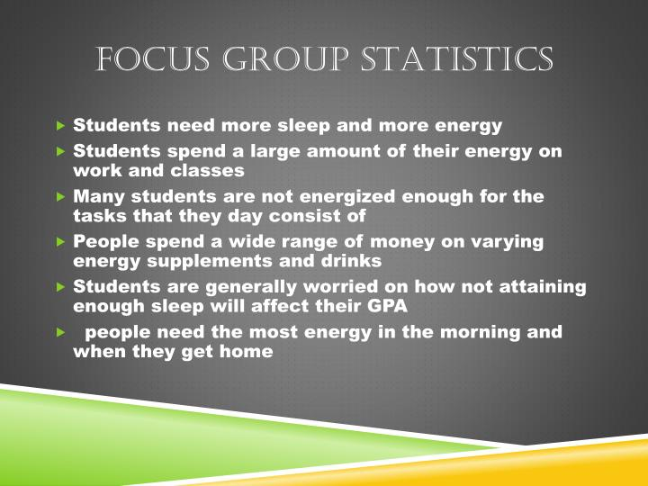 Focus group Statistics