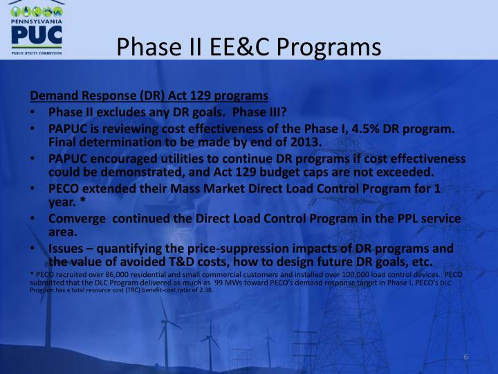 Phase II EE&C Programs