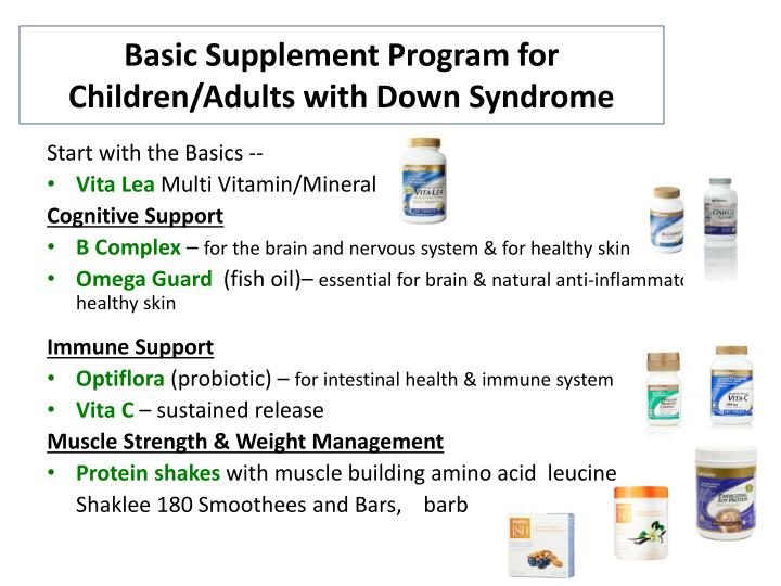 Basic Supplement Program for Children/Adults with Down Syndrome