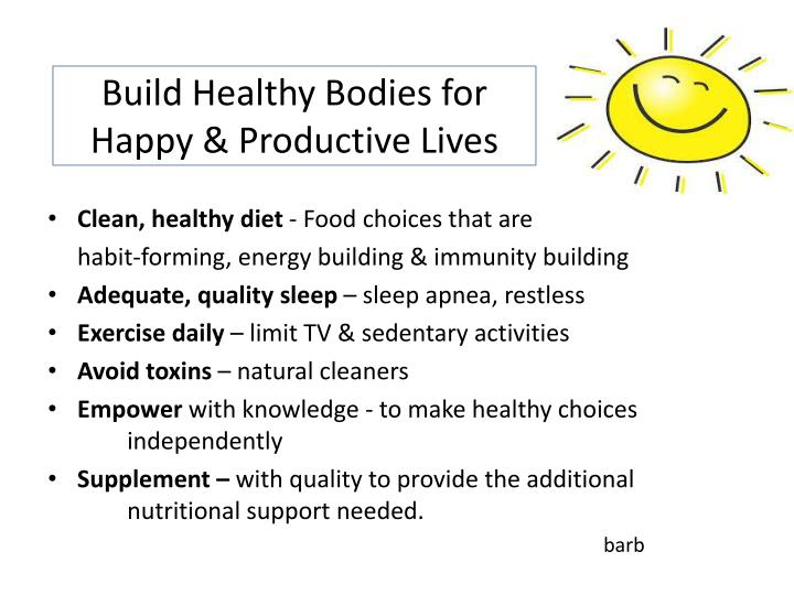 Build Healthy Bodies for