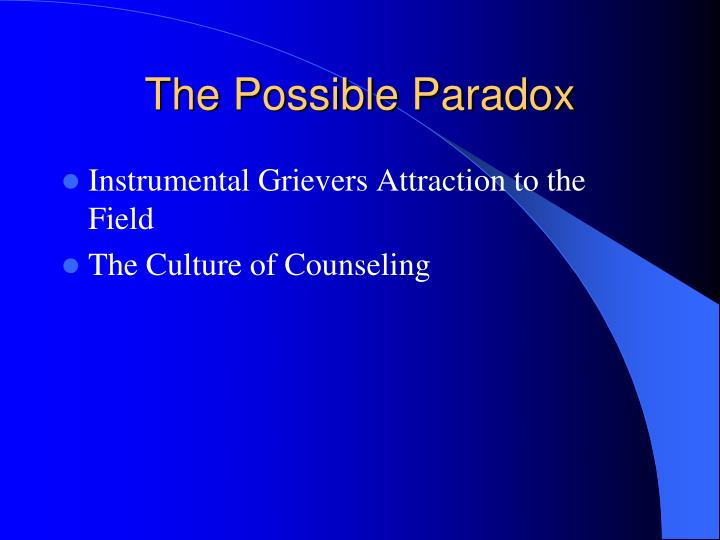 The Possible Paradox
