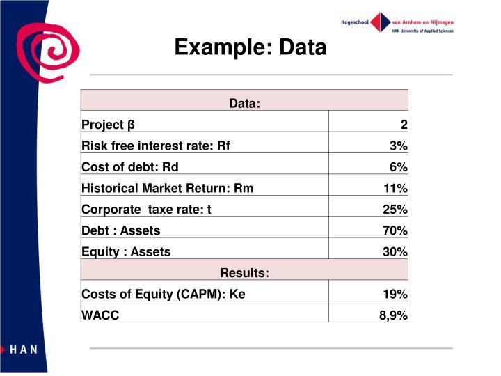 Example: Data