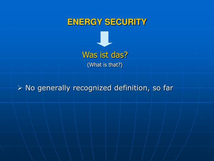 No generally recognized definition, so far