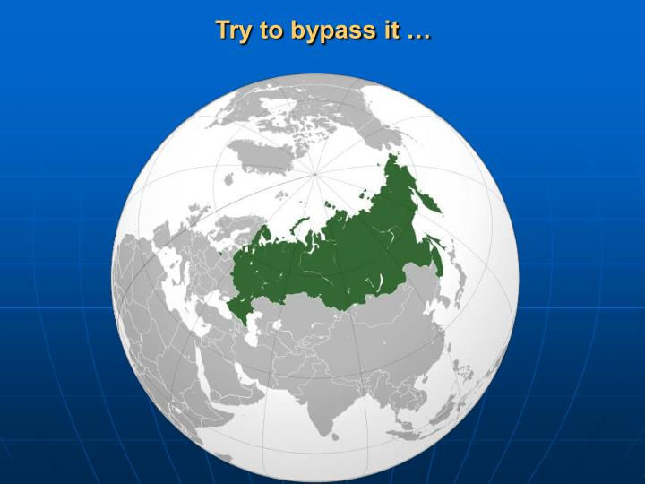 Try to bypass it …