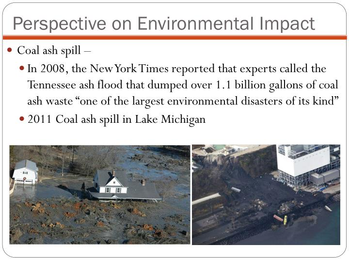 Perspective on Environmental Impact