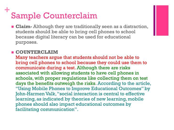 Sample Counterclaim
