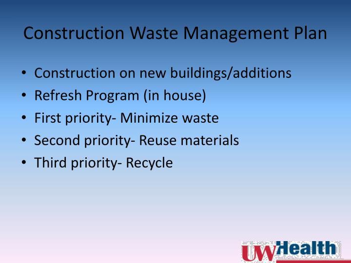 Construction Waste Management Plan