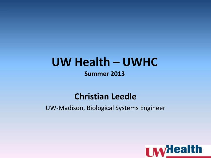 uw health uwhc summer 2013