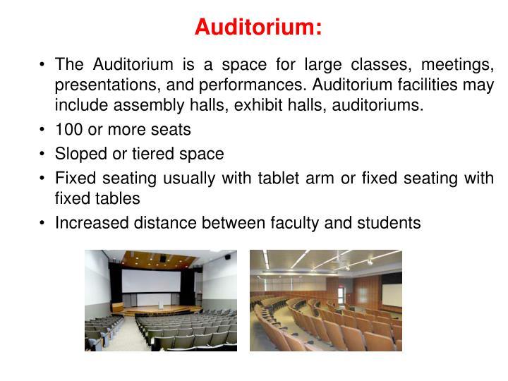 Auditorium:
