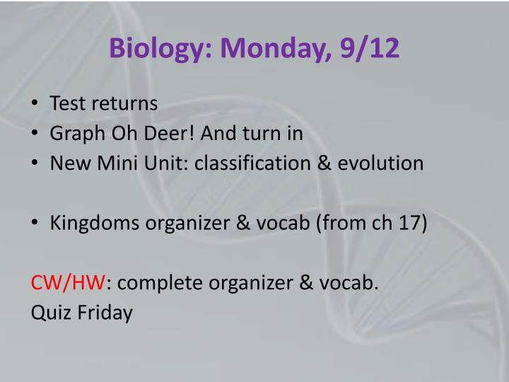Biology: