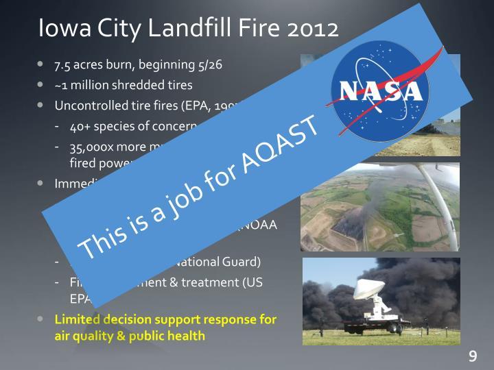 Iowa City Landfill Fire 2012