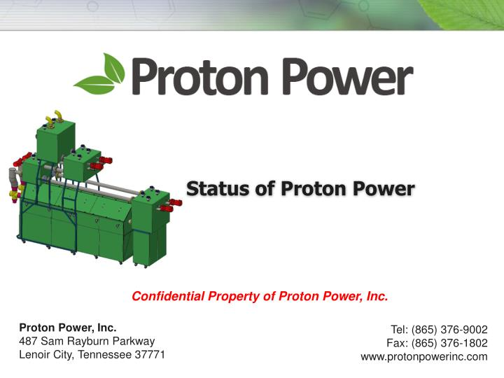 Status of proton power