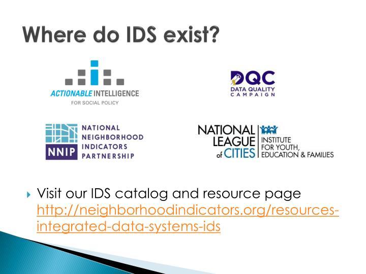 Where do IDS exist?