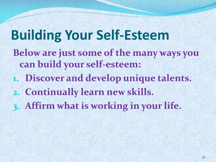 Building Your Self-Esteem
