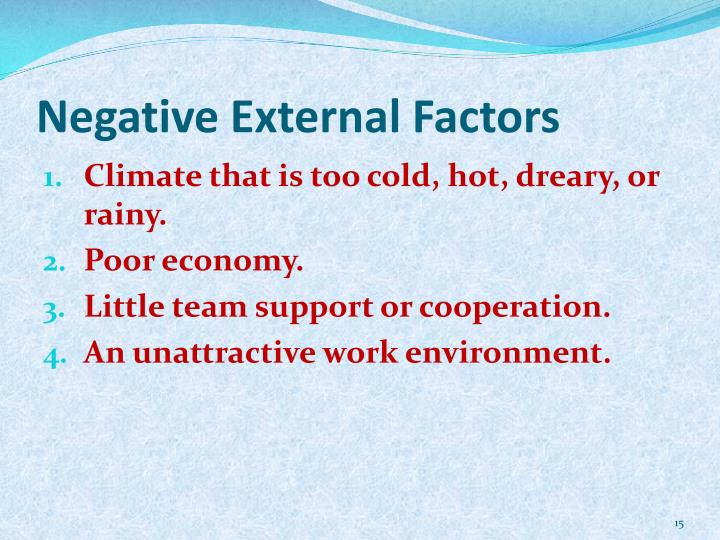 Negative External Factors