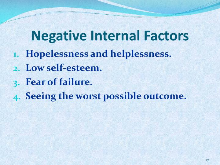 Negative Internal Factors