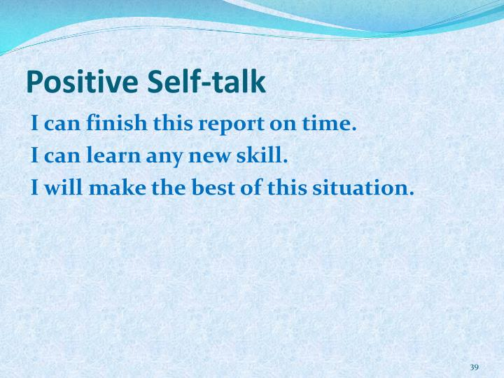 Positive Self-talk