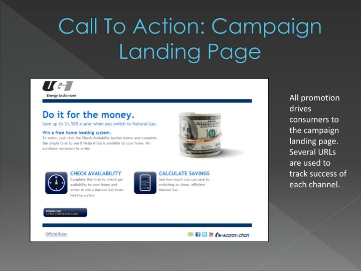 Call To Action: Campaign Landing Page