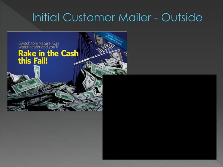 Initial Customer Mailer - Outside