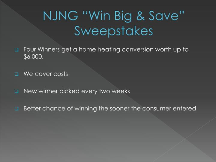 """NJNG """"Win Big & Save"""" Sweepstakes"""