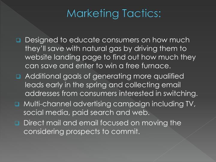 Marketing Tactics: