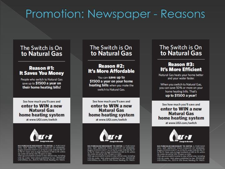 Promotion: Newspaper - Reasons