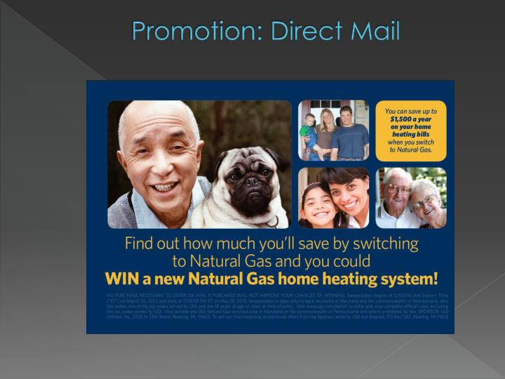 Promotion: Direct Mail