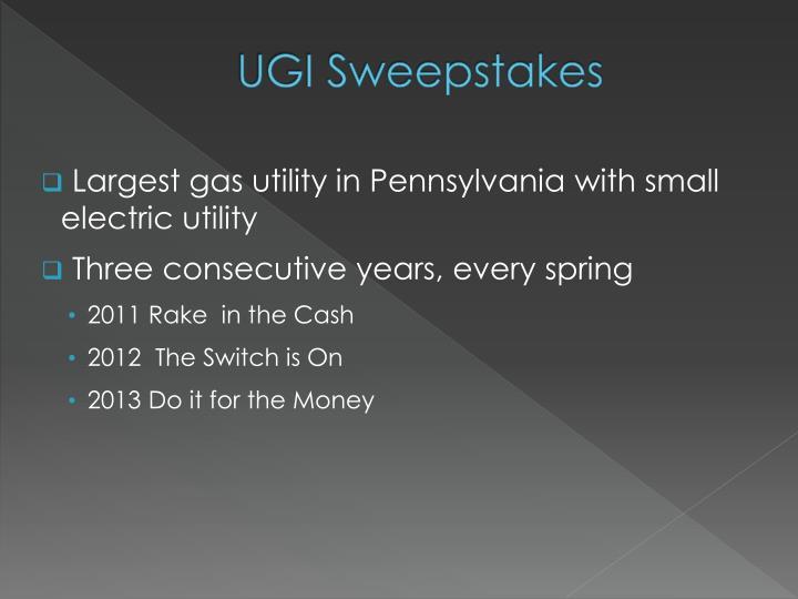 UGI Sweepstakes