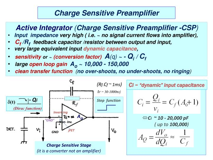 Charge Sensitive Preamplifier