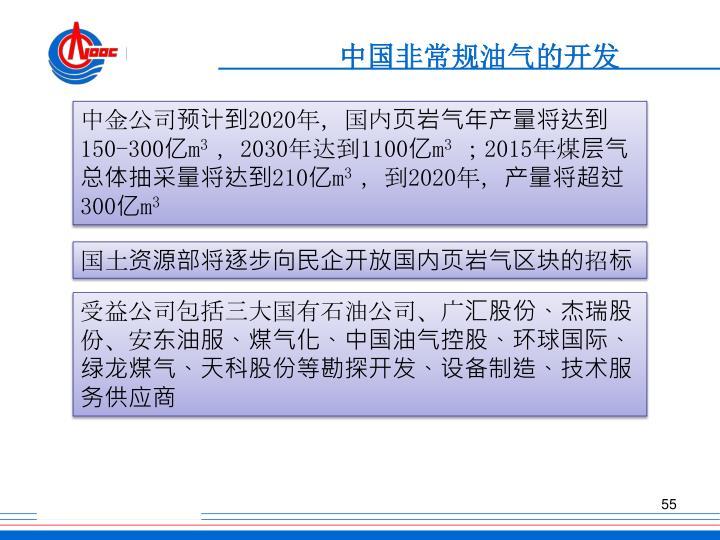 中国非常规油气的开发