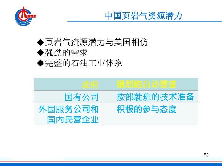 中国页岩气资源潜力