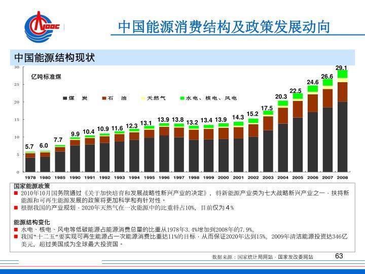 中国能源消费结构及政策发展动向