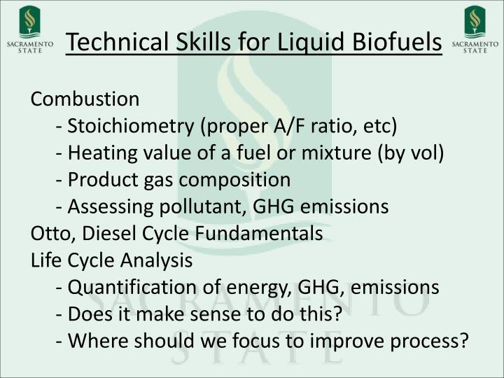 Technical Skills for Liquid