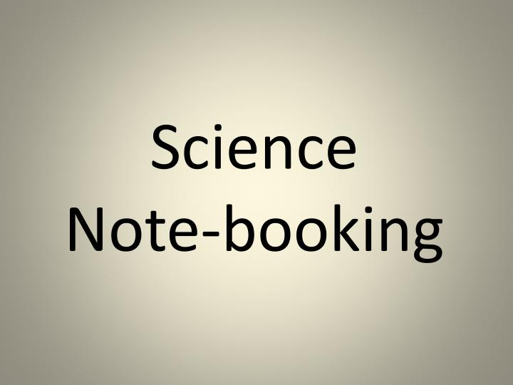 Science note booking