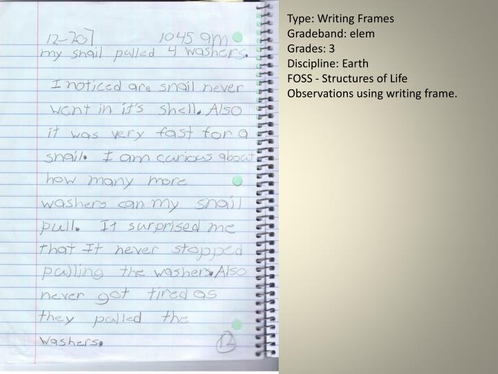 Type: Writing Frames