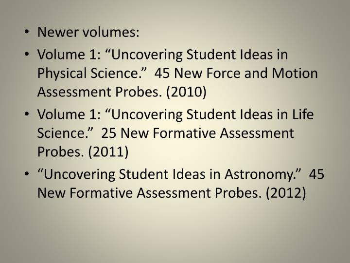 Newer volumes:
