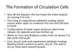 the formation of circulation c ells