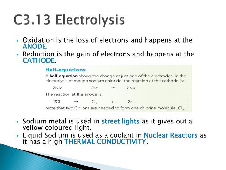 C3.13 Electrolysis