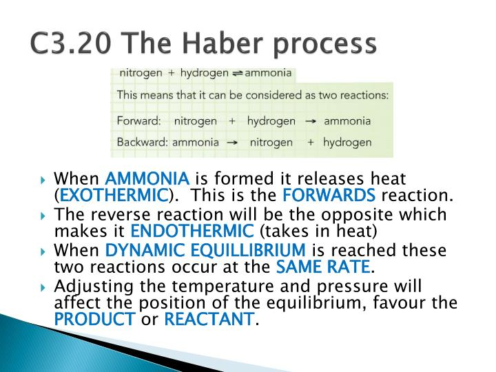 C3.20 The Haber process