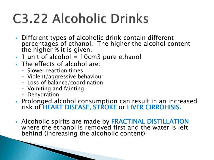 C3.22 Alcoholic Drinks