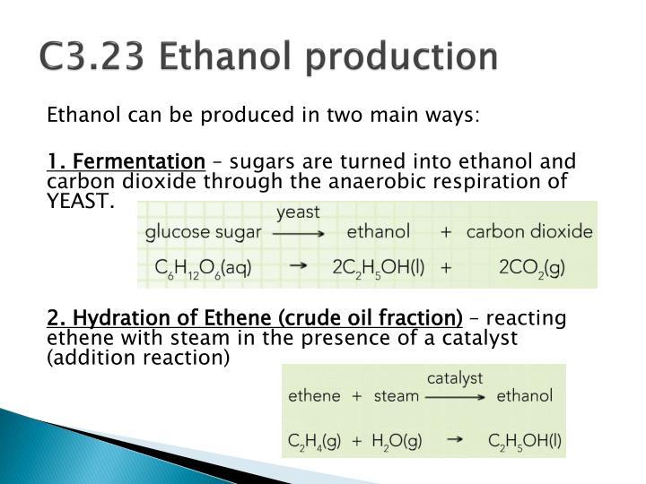 C3.23 Ethanol production