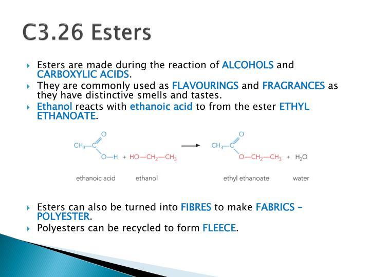 C3.26 Esters