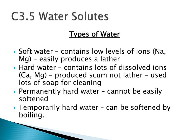 C3.5 Water Solutes