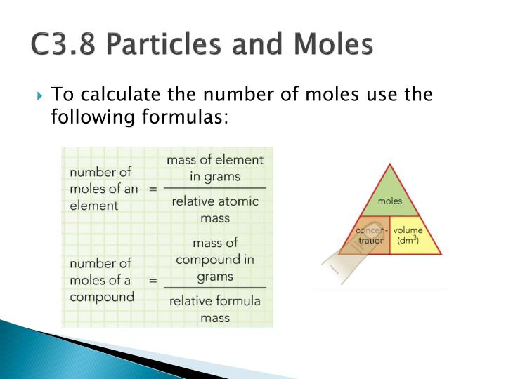 C3.8 Particles and Moles