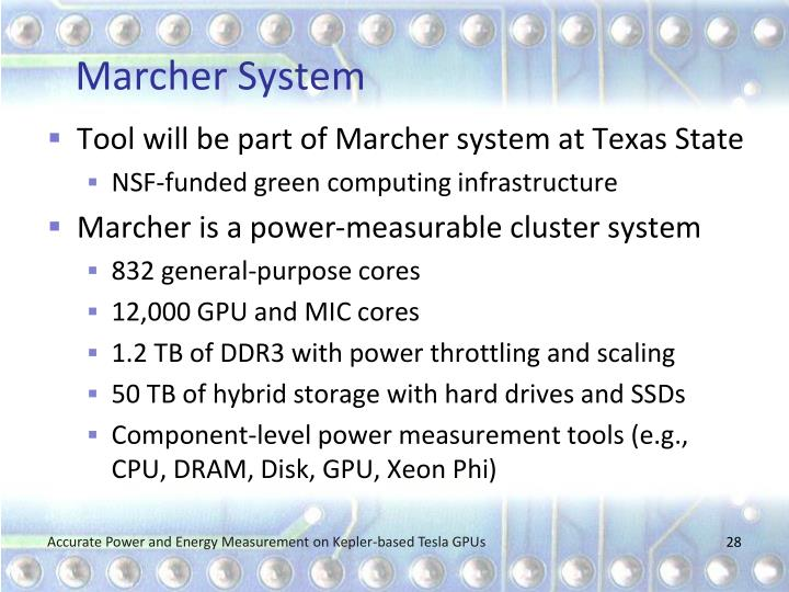 Marcher System