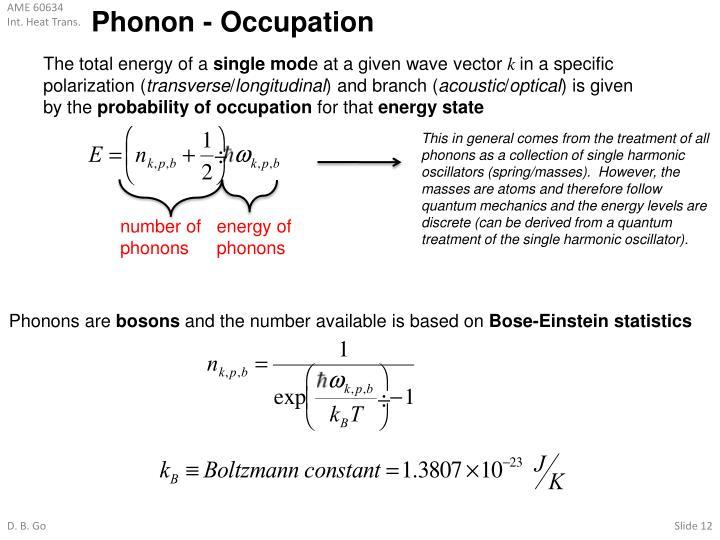 Phonon - Occupation