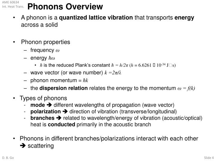 Phonons Overview